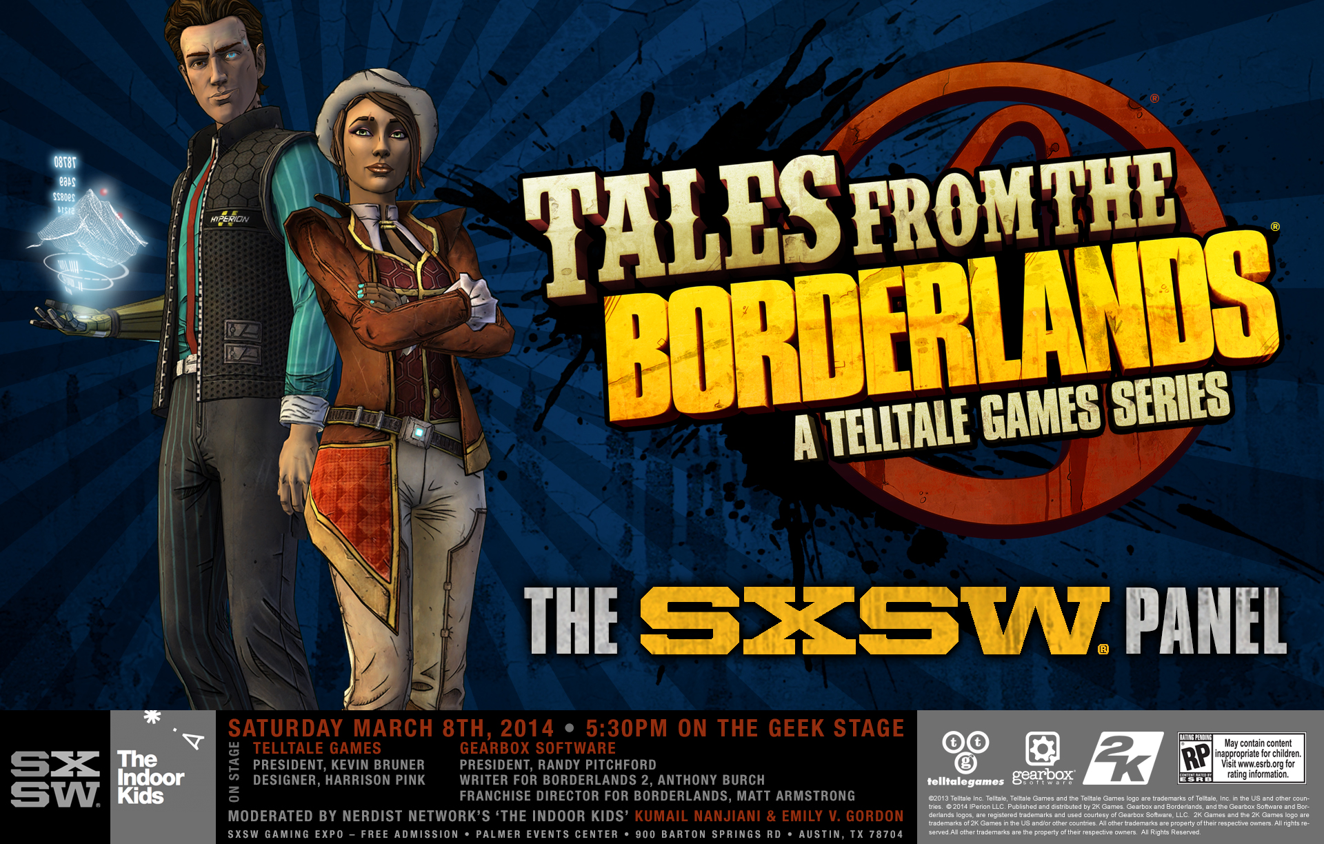 Telltale Games Tales from the Borderlands unveiled at SXSW