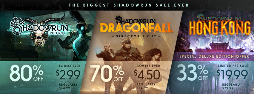 Shadowrun 3 Year Anniversary Sale